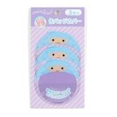 〔小禮堂〕雙子星KIKI 造型透明徽章保護套組《3入.藍紫》收納套.演唱會粉絲收納系列 4901610-13778