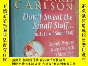 二手書博民逛書店DON'T罕見SWEAT THE SMALL STUFF……AN