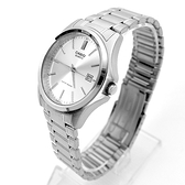 CASIO手錶 科技銀色日期窗刻度鋼錶NECE46
