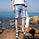 牛仔短褲-牛仔短褲男士夏季薄款五分褲 衣普菈