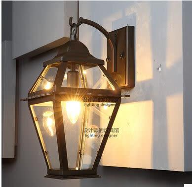 設計師美術精品館設計師的燈北歐美式鄉村創意複古工業風陽台樓梯愛迪生玻璃箱壁燈