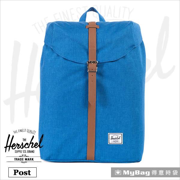 Herschel 後背包  海藍色 束口設計13吋筆電後背包 Post-909 MyBag得意時袋