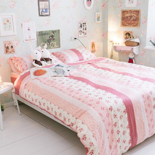 小小碎花鄉村風  K1雙人King Size床包三件組  100%精梳棉  台灣製