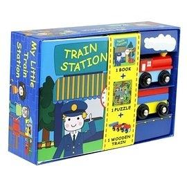 【我的夢想城鎮 My Little Village】火車 MY LITTLE TRAIN /內含故事書+拼圖+木質偶