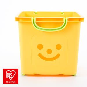 日本 IRIS 兩用微笑兒童收納箱 黃色 KCB-32P