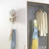 衣帽架收納 多功能創意掛鉤門後免釘壁掛衣服帽子包包掛鉤架 小艾時尚.NMS