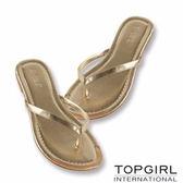 TOP GIRL清涼夾腳拖鞋 --金
