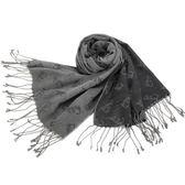 Falchi New York 限定滿版LOGO圍巾(灰色)970003-1