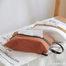 面紙盒暖舍懸掛式紙巾袋車載紙巾套咖啡館日式棉布藝植鞣皮紙巾 快速出貨