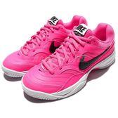 Nike 老爹鞋 Wmns Court Lite 桃紅 黑勾 白 低筒 網球鞋 女鞋【PUMP306】 845048-600