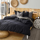 床包/雙人加大-[素色寢具]-黑色-3件...
