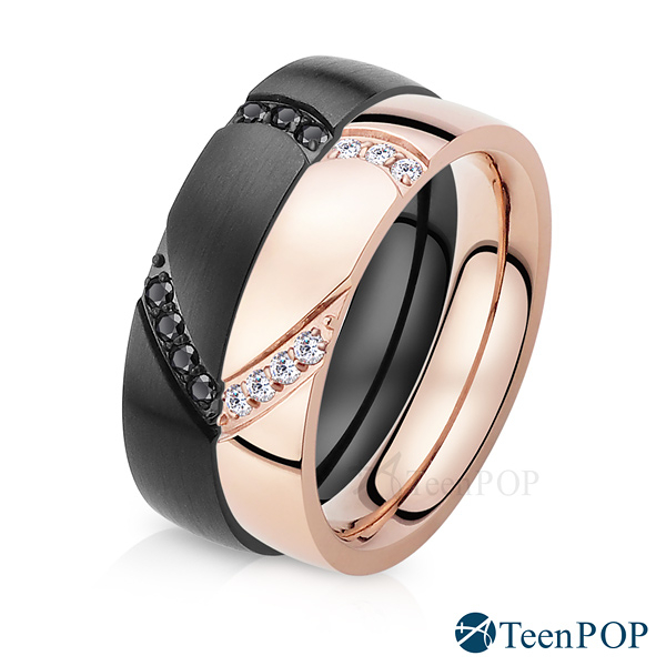 情侶對戒 ATeenPOP 珠寶白鋼戒指 獨占愛情 尾戒 愛心 單個價格 七夕情人節禮物