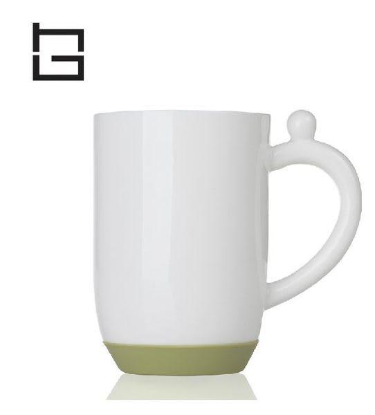 【HG】矽膠底防滑陶瓷杯牛奶杯(綠)/350ml (現貨+預購)