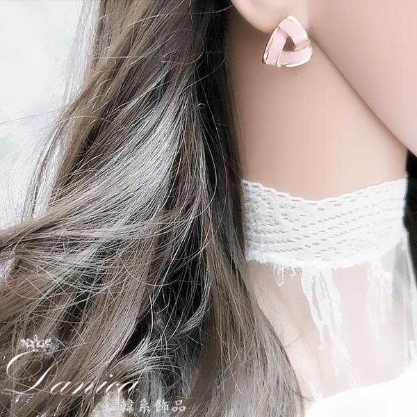 現貨 韓國時尚氣質簡約百搭小香風幾何三角型925銀針耳環 S93688 批發價 Danica 韓系飾品 韓國連線