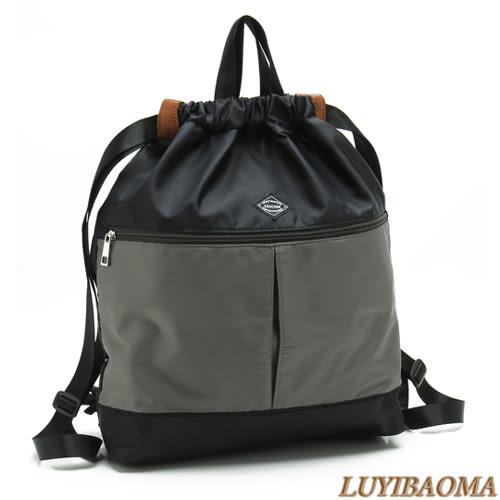 後背包-法國盒子.簡約配色超輕量實用後背包(灰色)C0027