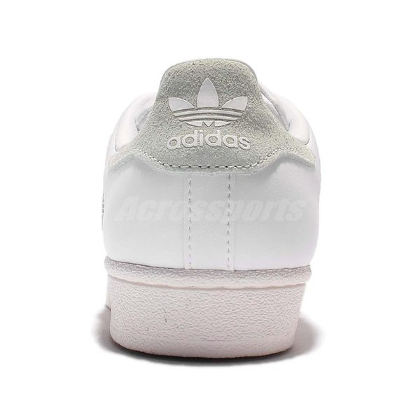 adidas 休閒鞋 Superstar W 白 米白 皮革 貝殼頭 經典款 復古奶油底 女鞋【PUMP306】 BB2142