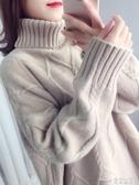 韓版寬鬆慵懶風加厚外套ins超火長袖套頭網紅高領毛衣女新款(快速出貨)