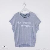 【INI】週慶限定、質感棉料連袖上衣.淺灰色