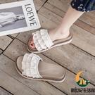 居家用拖鞋可愛少女心浴室洗澡防滑軟厚底外穿沙灘涼拖女【創世紀生活館】