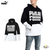 Puma Rebel 黑白 男款 長袖 上衣 基本系列 連帽上衣 刷毛 長袖 厚連帽T恤 85240601