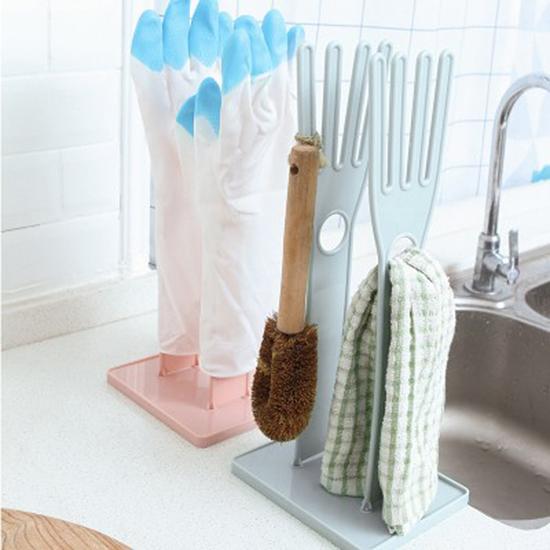 多功能手套瀝水架 橡膠手套 廚房 可拆卸 防燙手套 抹布 晾曬架 收納架【P545】慢思行