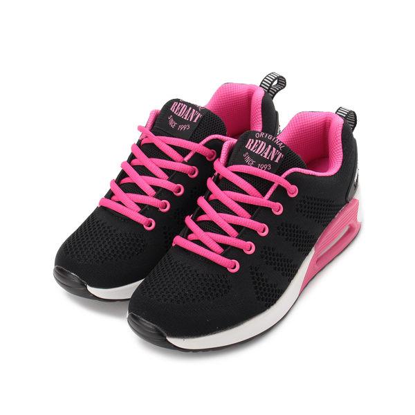 RED ANT 氣墊飛織休閒運動鞋 黑桃 L1-16393 女鞋 鞋全家福