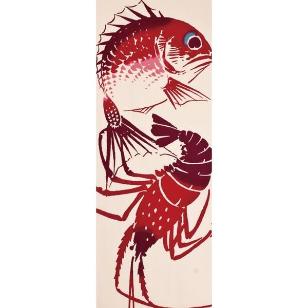 【日本製】【和布華】 日本製 注染拭手巾 鯛魚與龍蝦圖案(一組:3個) SD-5067-3 - 和布華