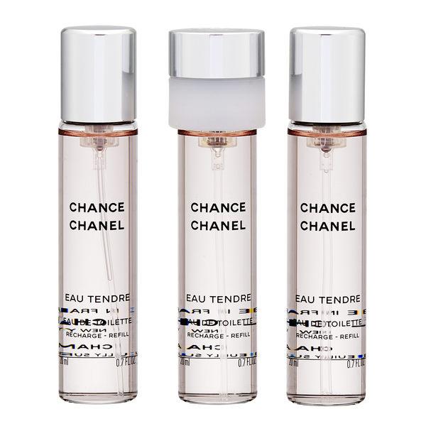 Chanel 香奈兒 Chance Eau Tendre 粉紅邂逅淡香水噴霧 (3 支 20ml 補充裝 ) 【玫麗網】