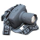 頭燈 3WLED強光頭燈三檔伸縮變焦頭燈釣魚頭燈野營燈磨砂質感黑色