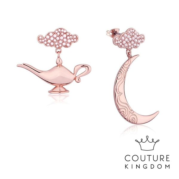 Couture Kingdom 迪士尼阿拉丁神燈鍍玫瑰金耳環 Aladdin Genie Lamp Earrings