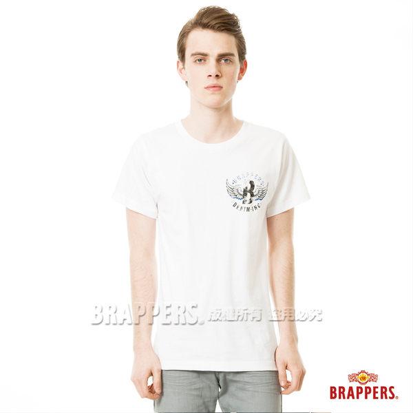 BRAPPERS 男款 日本製小翅膀印花短袖上衣-白
