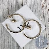 BRAND楓月 Christian Dior 迪奧 大圈圈 珍珠墜飾耳環 耳針式 (有生鏽)