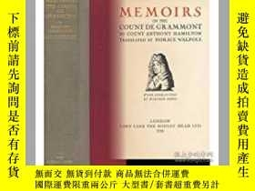 二手書博民逛書店1928年Memoirs罕見of Count Grammont.