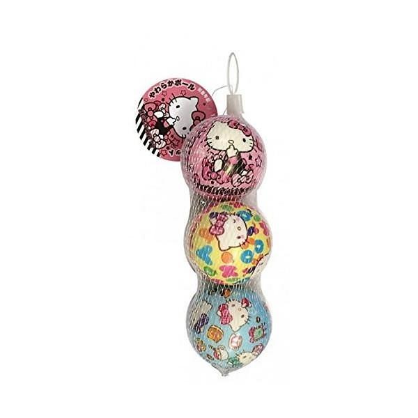 【震撼精品百貨】Hello Kitty 凱蒂貓~HELLO KITTY 3入小皮球玩具