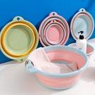 大號-可攜式折疊洗臉盆(可掛式) //可折疊盆 塑膠盆 洗衣盆 洗菜盆 水桶 水盆