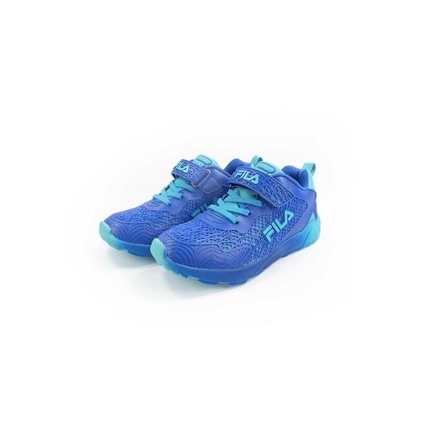 《FILA》兒童 輕量慢跑鞋 藍 3-J407U-333
