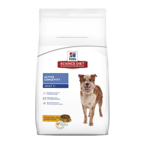 希爾思™寵物食品 7歲以上高齡犬 活力長壽 12公斤 雞肉、米與大麥配方