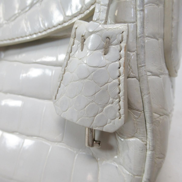 PRADA 普拉達 Saffiano 白色鱷魚紋手提肩背包 BR3376 【BRAND OFF】