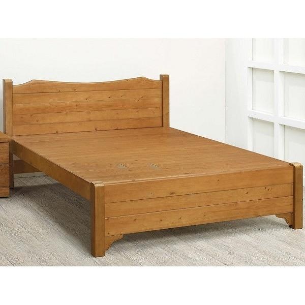 床架 床台 FB-574-3 雅歌樟木色6.2尺雙人床架 (不含床墊) 【大眾家居舘】