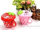 【GF426】草莓杯~附杯蓋~可愛草莓造...