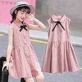 洋裝 胖女童洋氣裙子2020新款中大童洋裝12女孩夏裝兒童公主裙15歲焱