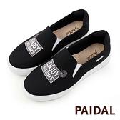 Paidal ENJOY HOLIDAYS字母厚底懶人鞋休閒鞋