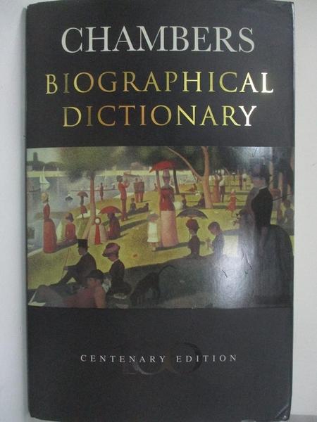 【書寶二手書T7/傳記_DV5】Chambers Biographical Dictionary (Larousse Biographical Dictionary)_Melanie Parry