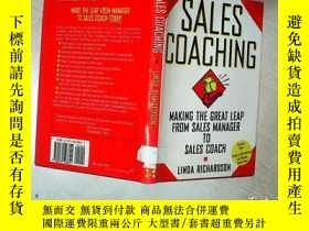 二手書博民逛書店SALES罕見COACHING LINDA RICHAROSON 銷售教練LINDA RICHAROSON 16開