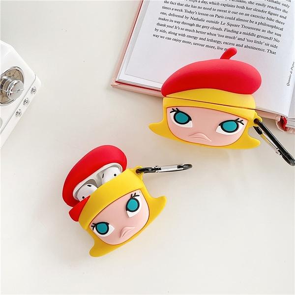 Airpods Pro 專用 1/2代 台灣發貨 [ 紅帽茉莉 Molly ] 藍芽耳機保護套 蘋果無線耳機保護
