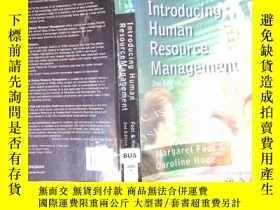 二手書博民逛書店INTRODUCING罕見HUMAN RESOURCE MANAGEMENTY198833 ISBN:97