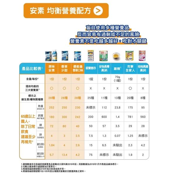 亞培 安素優能基營養配方(香草口味)-850g【富康活力藥局】