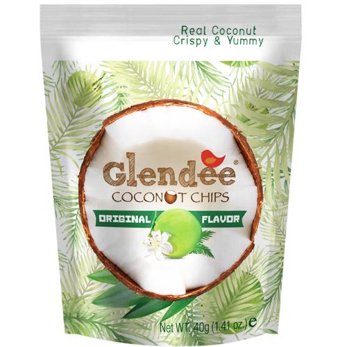 Glendee椰子脆片40g原味 日華好物
