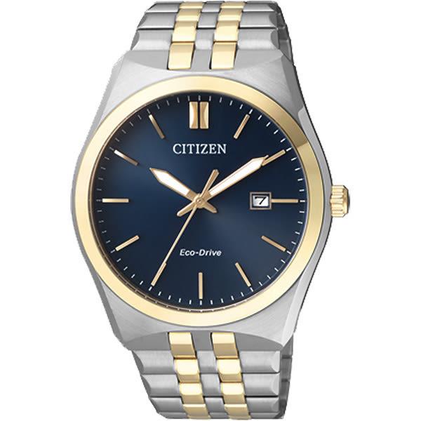 CITIZEN Eco-Drive 光動能腕錶-藍x雙色/40mm BM7334-66L