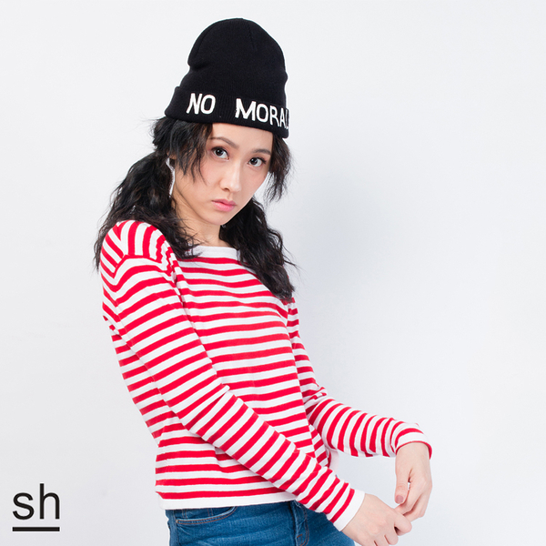 毛帽 NO MORALS反摺毛帽/SH